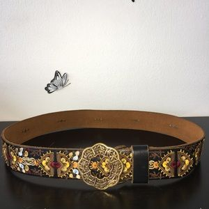 Lucky Brand women's Boho Embroidered belt